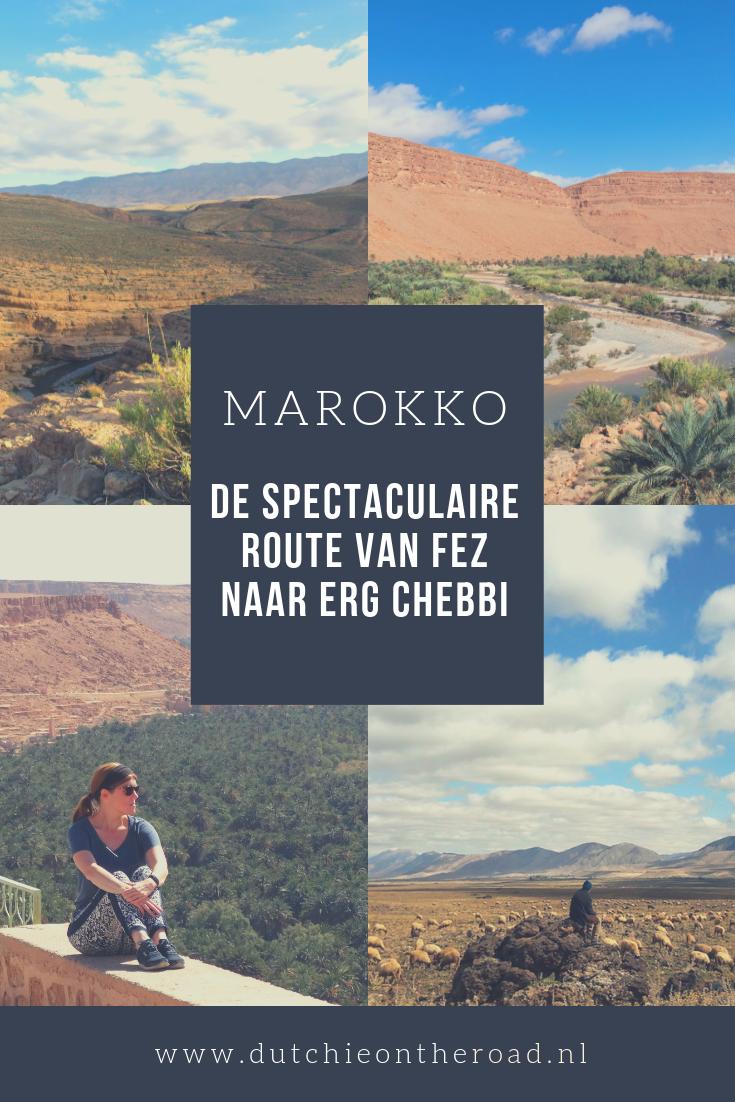 Route van Fez naar Erg Chebbi