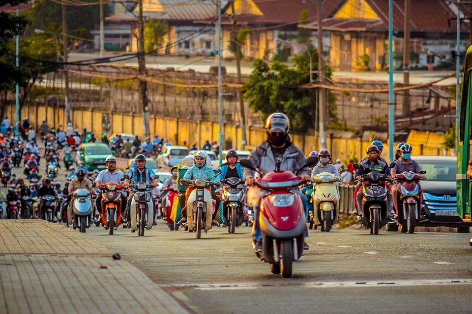 Oversteken in Vietnam