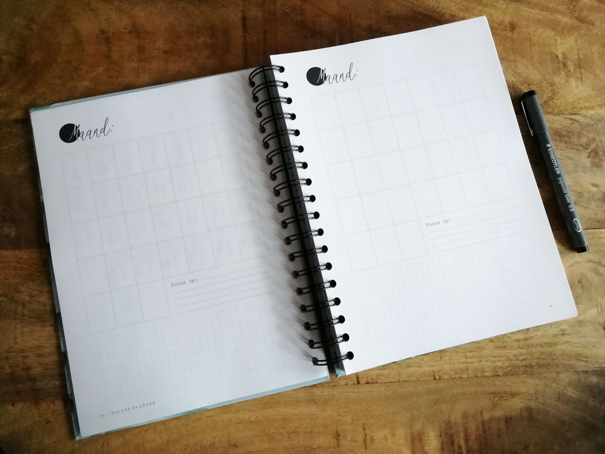 review balans planner